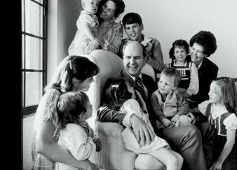 Russell M. Nelson avec son épouse Dantzel et leurs 10 enfants