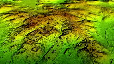 image LiDAR de la cité découverte au Guatemala
