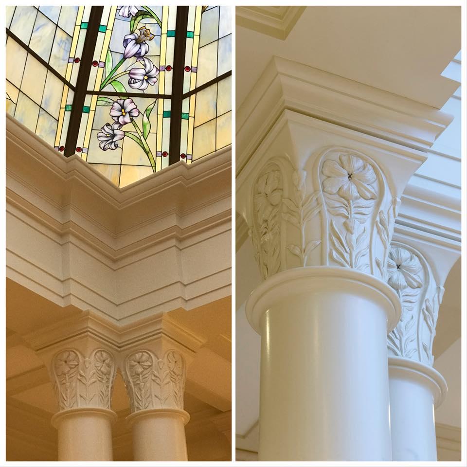 l'architecture reprend les détails de la verrière