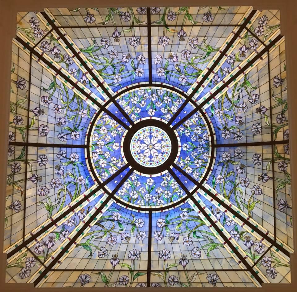 verrière vitrail temple de Paris