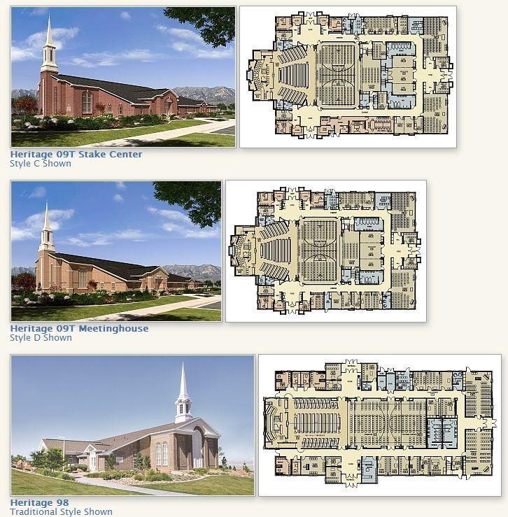 plans de chapelles mormons payées par la dîme