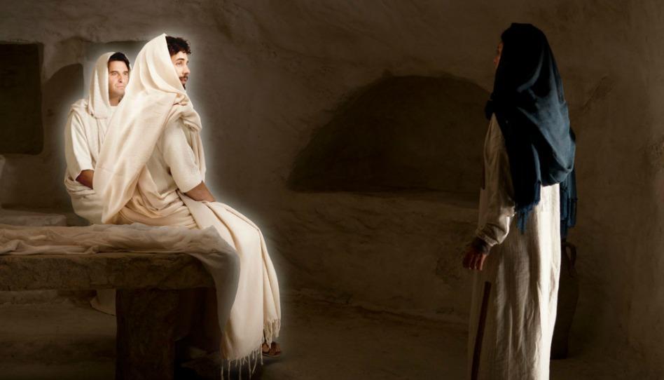 les anges n'ont pas d'ailes, Marie au tombeau entend le message des anges