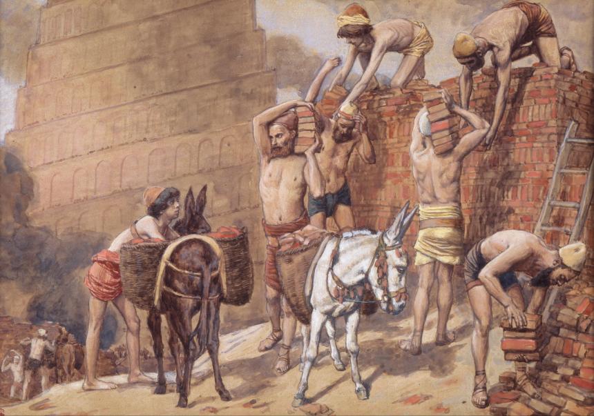la construction de la tour de Babel