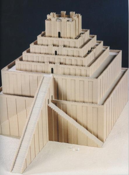 modèle du temple de Marduk à Babylone