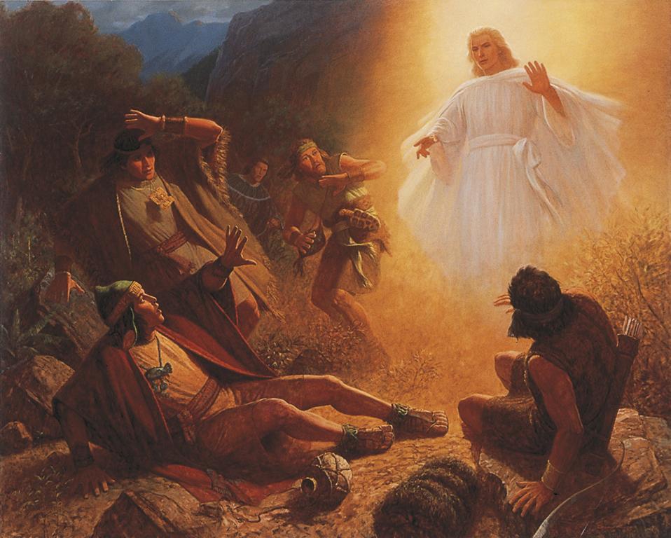 la conversion d'Alma suite à l'apparition d'un ange