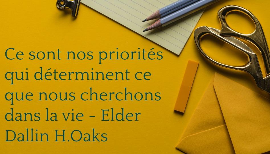 Apprendre à organiser son temps en se mettant des priorités