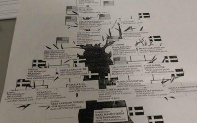 Photo de l'arbre généalogique de Anne Maxson. sa grand-mère luthérienne a demandé ordonnaces du temple avant sa mort