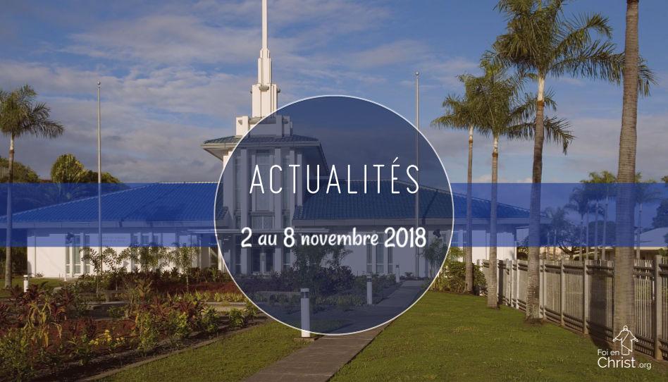 Actualités du 2 au 8 novembre 2018