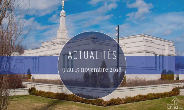 Actualités du 9 au 15 novembre 2018