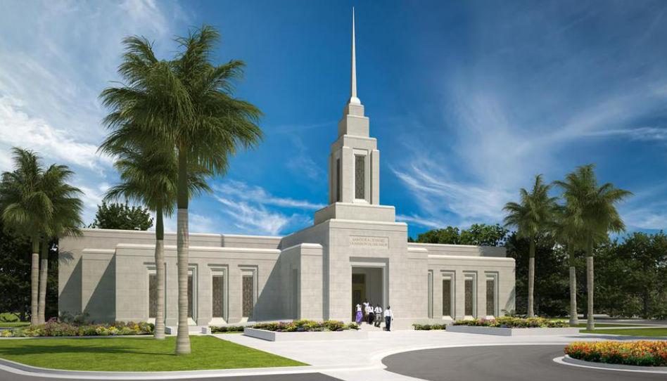 Temple de Port-au-Prince, Haïti.