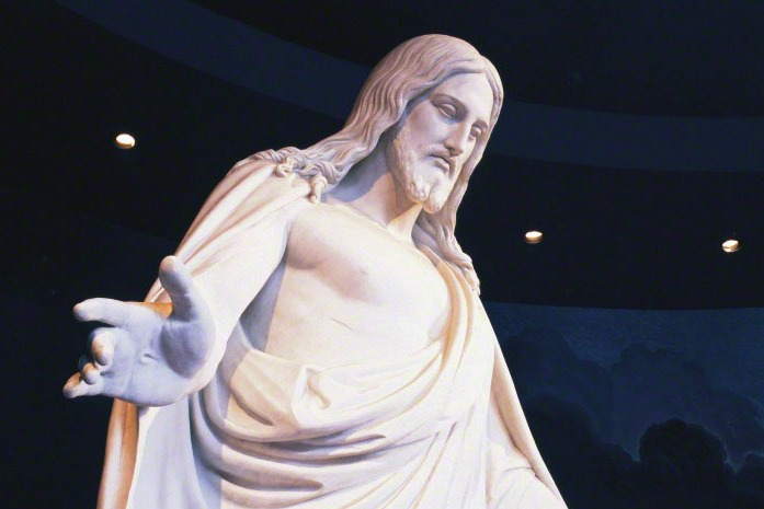 Statue du Christus, à Salt Lake City