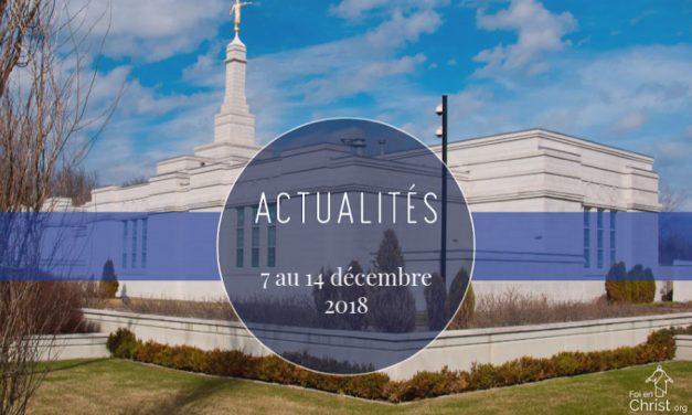 Nouvelles de l'Eglise du 7 au 14 décembre 2018