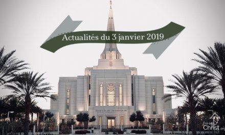 Actualités de l'Eglise au 3 janvier 2019