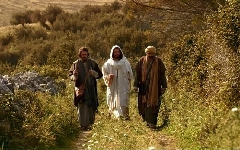 jésus le chemin sur la route d'Emmaüs