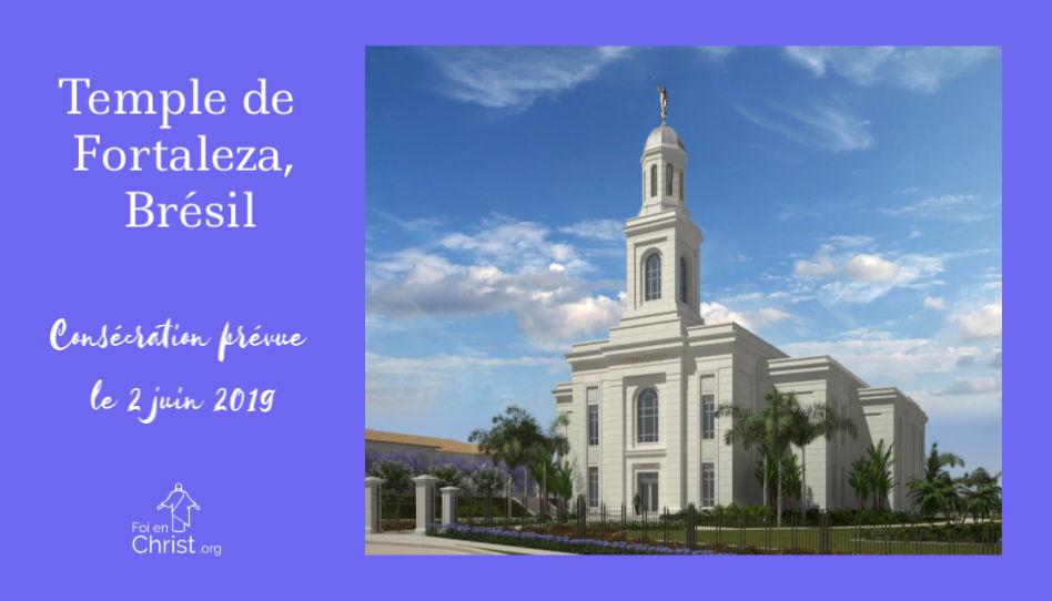 actualités du 10 janvier 2019: annonce consécration temple de Fortaleza