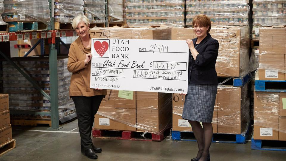 Sharon Eubank avec Utah Food Bank