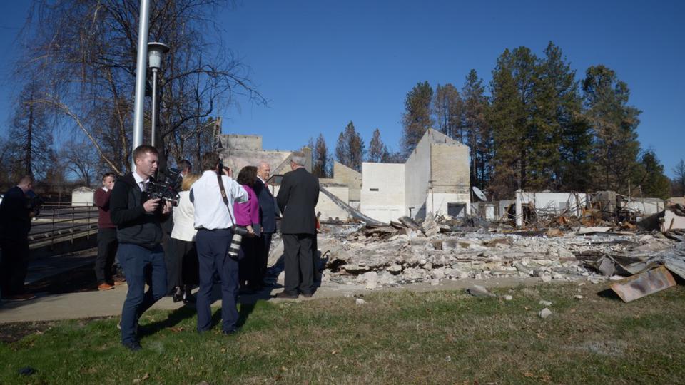 Californie: ce qu'il reste d'une chapelle de l'Eglise de Jésus-Christ après les feux de forêt