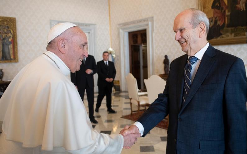 Pape François et Président Nelson