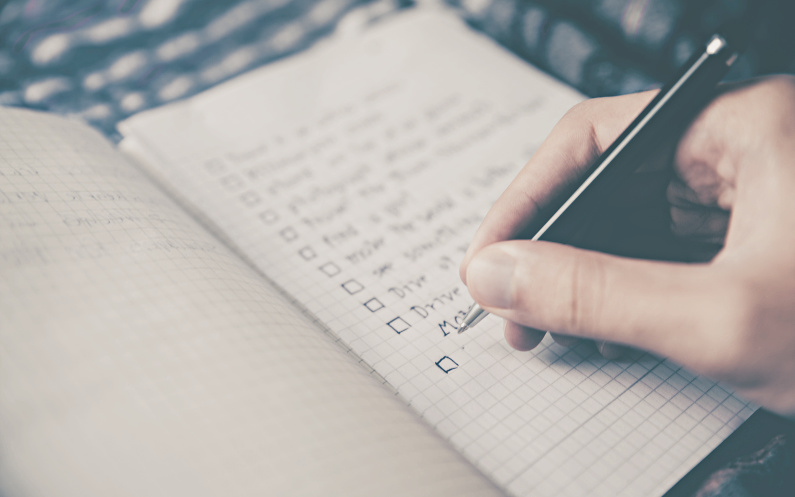 faire une liste d'idées