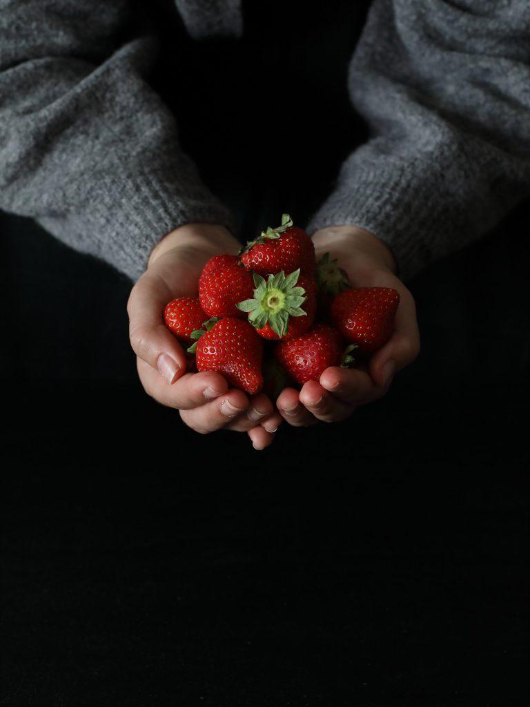 photographie culinaire fraises