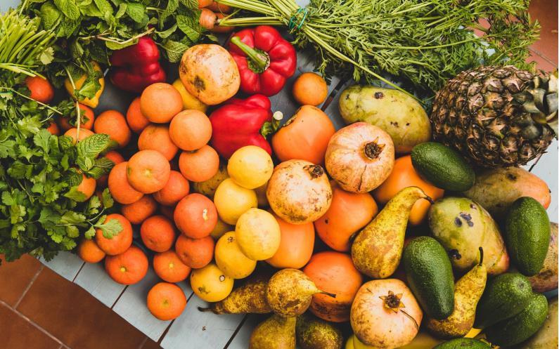 Avoir une vie saine - fruits de saison